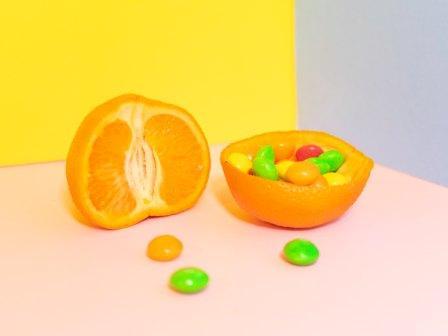 orange fruit and candy