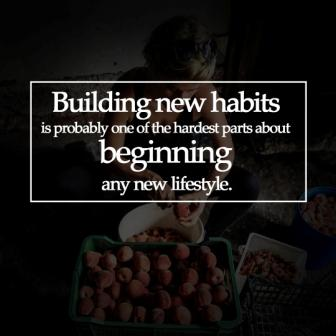 "vegan quote ""building new habits is probably one of the hardest parts about beginning any new lifestyle"""