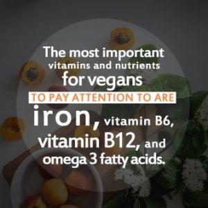 Vegan Diet moste important vitamins