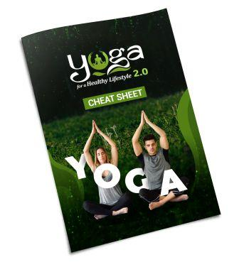 Download Yoga for a Healthy Lifestyle Cheat Sheet